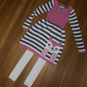 Girls Size 6X Sweater U0026 Leggings Set